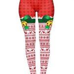 Kukubird Loungewear Christmas Winter Snowflake Santa Reindeer Stocking-Filler Women's Yoga Leggings Gym Fitness Running… 32