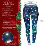 Kukubird Loungewear Christmas Winter Snowflake Santa Reindeer Stocking-Filler Women's Yoga Leggings Gym Fitness Running… 19