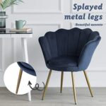 LEPAK Blue Velvet Chair Upholstered Shell Chair,Accent Chair Leisure Tub Chair Occasional Armchair for Living Room Cafe… 22