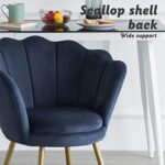 LEPAK Blue Velvet Chair Upholstered Shell Chair,Accent Chair Leisure Tub Chair Occasional Armchair for Living Room Cafe… 24