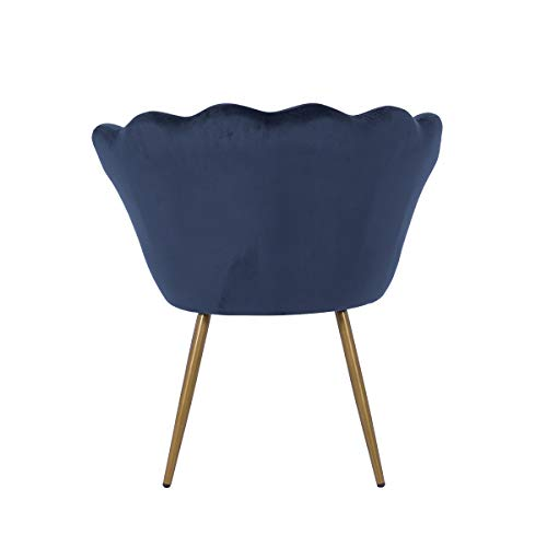 LEPAK Blue Velvet Chair Upholstered Shell Chair,Accent Chair Leisure Tub Chair Occasional Armchair for Living Room Cafe… 9