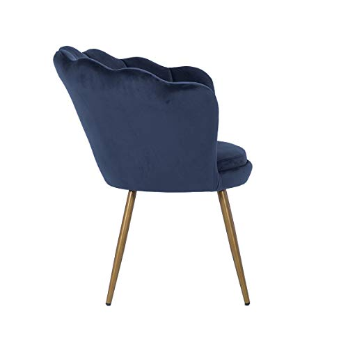 LEPAK Blue Velvet Chair Upholstered Shell Chair,Accent Chair Leisure Tub Chair Occasional Armchair for Living Room Cafe… 10