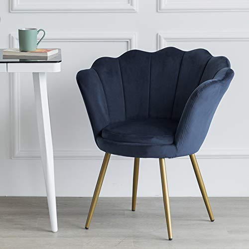 LEPAK Blue Velvet Chair Upholstered Shell Chair,Accent Chair Leisure Tub Chair Occasional Armchair for Living Room Cafe… 2