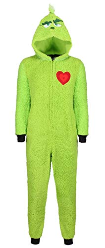 Ladies Character ONEZEES Grinch Rudolph All in ONE Fleece Pyjamas UK 4-28 New 1