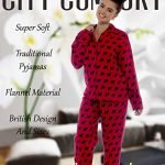 Ladies Comfy Pyjamas Women Soft Fleece Lounge Wear   Embroidered or Traditional Brushed Pjs with Long Sleeve   Perfect… 14