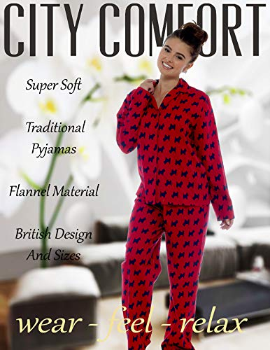 Ladies Comfy Pyjamas Women Soft Fleece Lounge Wear   Embroidered or Traditional Brushed Pjs with Long Sleeve   Perfect… 3