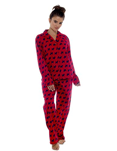 Ladies Comfy Pyjamas Women Soft Fleece Lounge Wear   Embroidered or Traditional Brushed Pjs with Long Sleeve   Perfect… 5