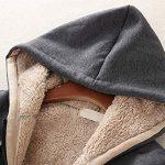 Ladies Plain Hoodie Winter Warm Fleece Lined Zip Up Jacket Coat for Women 17