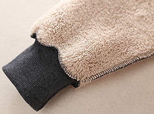 Ladies Plain Hoodie Winter Warm Fleece Lined Zip Up Jacket Coat for Women 6