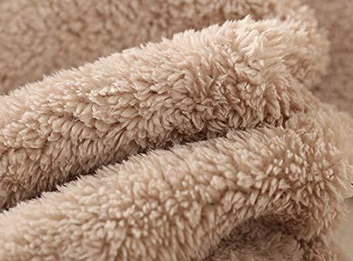 Ladies Plain Hoodie Winter Warm Fleece Lined Zip Up Jacket Coat for Women 7