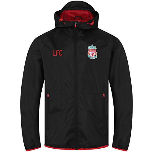 Liverpool FC Mens Jacket Shower Windbreaker Official Football Gift 1