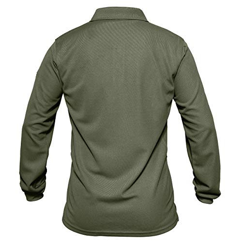 MAGCOMSEN Men's Quick Dry Long Sleeve Polo Shirts for Casual Military Golf Hiking 3