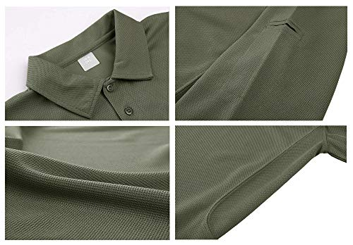 MAGCOMSEN Men's Quick Dry Long Sleeve Polo Shirts for Casual Military Golf Hiking 4