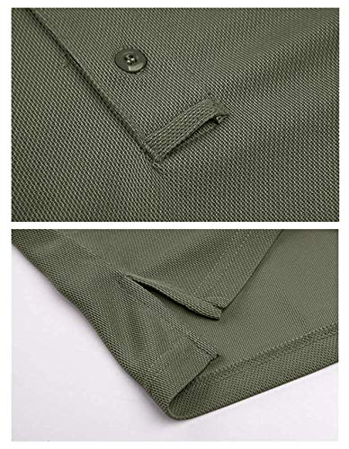 MAGCOMSEN Men's Quick Dry Long Sleeve Polo Shirts for Casual Military Golf Hiking 5