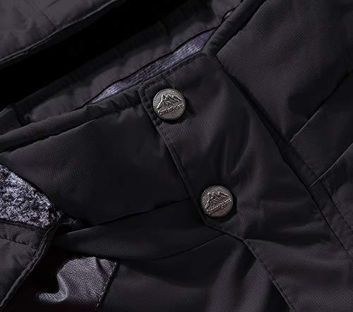MAGCOMSEN Men's Waterproof Skiing Jacket Windproof Outdoor Mountain Parka Fleece Jackets with Hood 3