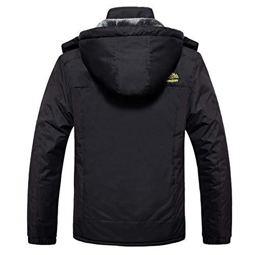 MAGCOMSEN Men's Waterproof Skiing Jacket Windproof Outdoor Mountain Parka Fleece Jackets with Hood 5
