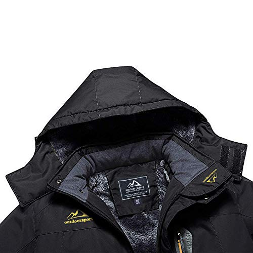 MAGCOMSEN Men's Waterproof Skiing Jacket Windproof Outdoor Mountain Parka Fleece Jackets with Hood 7
