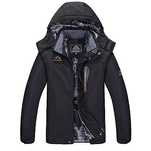MAGCOMSEN Men's Waterproof Skiing Jacket Windproof Outdoor Mountain Parka Fleece Jackets with Hood 1