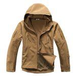 MAGCOMSEN Men's Waterproof Tactical Jackets Winter Outdoor Camouflage Softshell Jacket Fleece Lining 18