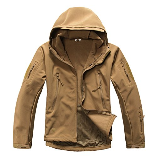 MAGCOMSEN Men's Waterproof Tactical Jackets Winter Outdoor Camouflage Softshell Jacket Fleece Lining 3