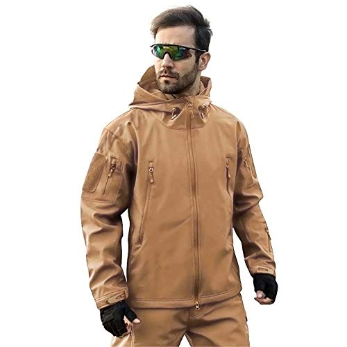 MAGCOMSEN Men's Waterproof Tactical Jackets Winter Outdoor Camouflage Softshell Jacket Fleece Lining 4