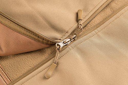 MAGCOMSEN Men's Waterproof Tactical Jackets Winter Outdoor Camouflage Softshell Jacket Fleece Lining 5