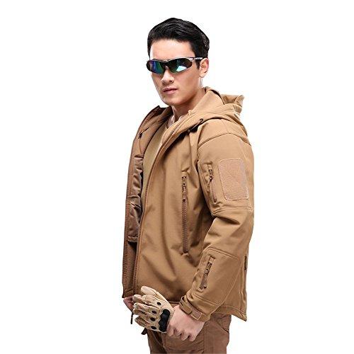 MAGCOMSEN Men's Waterproof Tactical Jackets Winter Outdoor Camouflage Softshell Jacket Fleece Lining 6
