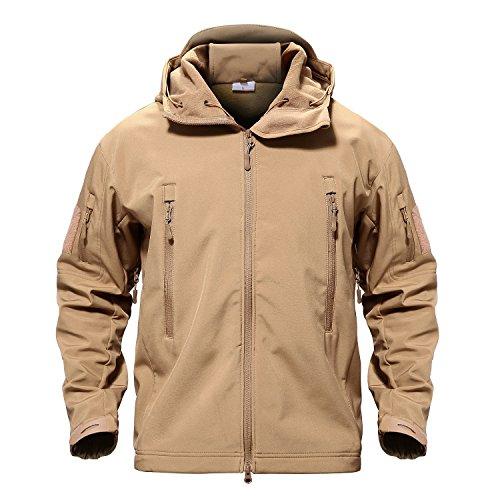MAGCOMSEN Men's Waterproof Tactical Jackets Winter Outdoor Camouflage Softshell Jacket Fleece Lining 1