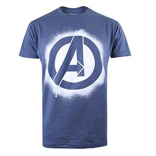 Marvel Men's Avengers Stencil Logo T-Shirt 1