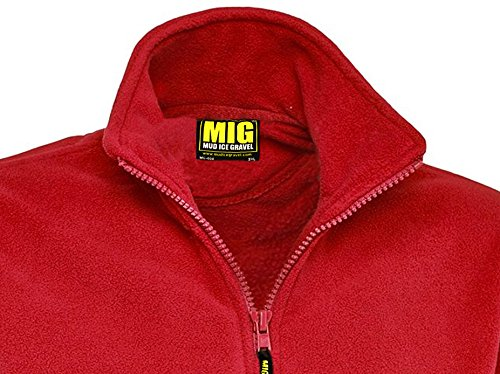 MIG - Mud Ice Gravel Mens Classic Fleece Jacket Coat Sizes XS To 4XL - Work Leisure Sports Casual 4