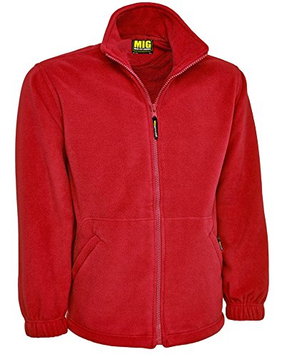 MIG - Mud Ice Gravel Mens Classic Fleece Jacket Coat Sizes XS To 4XL - Work Leisure Sports Casual 1