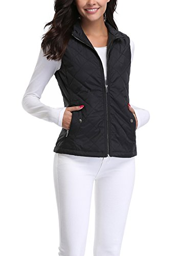 MISS MOLY Women's Stand Collar Lightweight Quilted Vest Jacket 7