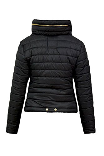 Malaika ® Ladies Quilted Padded Puffer Bubble Fur Collar Warm Thick Womens Jacket Coat - Avaiable in PLUS SIZES (Extra… 3