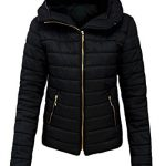 Malaika ® Ladies Quilted Padded Puffer Bubble Fur Collar Warm Thick Womens Jacket Coat - Avaiable in PLUS SIZES (Extra… 7