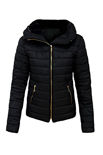 Malaika ® Ladies Quilted Padded Puffer Bubble Fur Collar Warm Thick Womens Jacket Coat - Avaiable in PLUS SIZES (Extra… 1