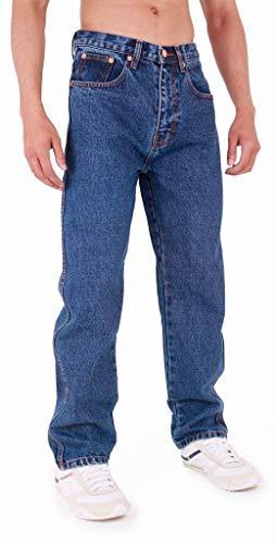 Mens Aztec Heavy Duty Basic Straight Leg Regular FIT Jeans 3