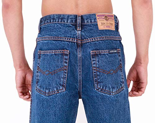 Mens Aztec Heavy Duty Basic Straight Leg Regular FIT Jeans 4