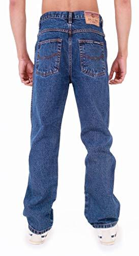 Mens Aztec Heavy Duty Basic Straight Leg Regular FIT Jeans 5