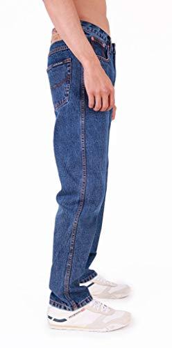 Mens Aztec Heavy Duty Basic Straight Leg Regular FIT Jeans 6