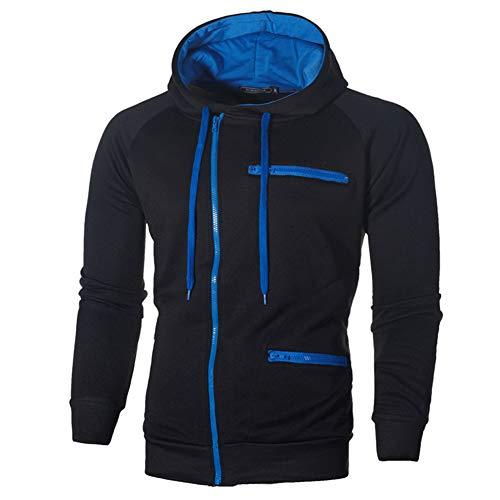 Mens Casual Long Sleeve Hoodies Full Zip Velvet Sweatshirt M-3XL 3