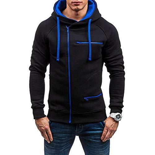 Mens Casual Long Sleeve Hoodies Full Zip Velvet Sweatshirt M-3XL 1
