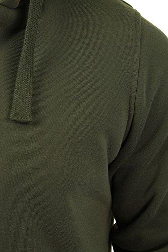 Mens Hoodie Sweatshirt Jumper Brave Soul 'Zone' Hooded Sherpa Lined 3