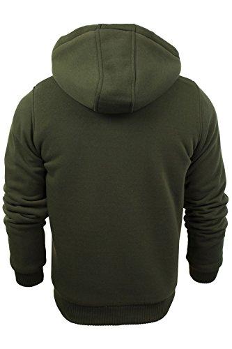 Mens Hoodie Sweatshirt Jumper Brave Soul 'Zone' Hooded Sherpa Lined 4