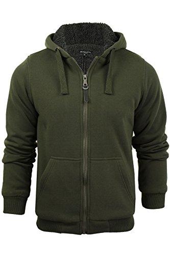 Mens Hoodie Sweatshirt Jumper Brave Soul 'Zone' Hooded Sherpa Lined 1