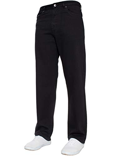 Mens Straight Leg Jeans Basic Heavy Duty Work Denim Trousers Pants All Waist Big Sizes in 4 Colours 2