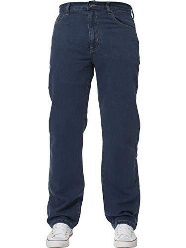 Mens Straight Leg Jeans Basic Heavy Work Denim Trousers Pants Big Tall King Sizes 3