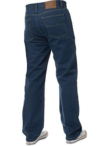 Mens Straight Leg Jeans Basic Heavy Work Denim Trousers Pants Big Tall King Sizes 4