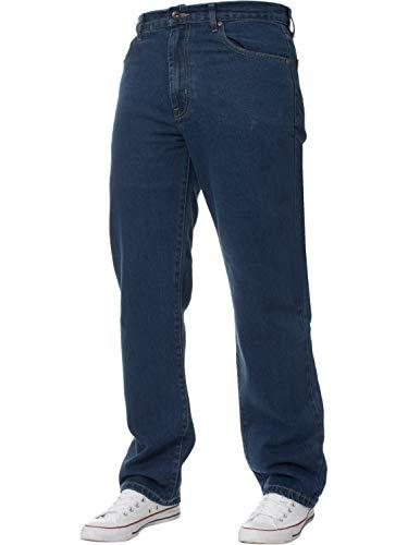 Mens Straight Leg Jeans Basic Heavy Work Denim Trousers Pants Big Tall King Sizes 1