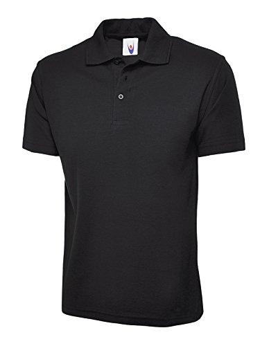 Mens & Womens Classic Polo Shirt Short Sleeve Plain Tee Top Casual Work Sports 1