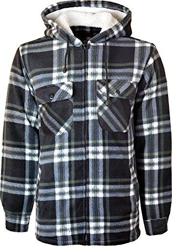 Miss Trendy Hooded Fleece Padded Lumberjack Shirt Jacket Fur Lined Sherpa Winter Warm Work 1